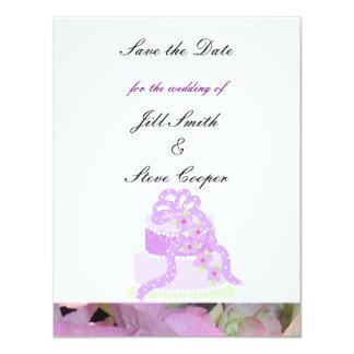 """Reserva púrpura del pastel de bodas de la cinta la invitación 4.25"""" x 5.5"""""""