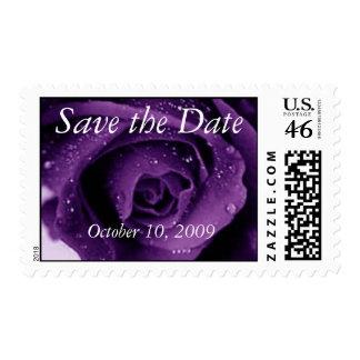 Reserva púrpura del rosa la fecha