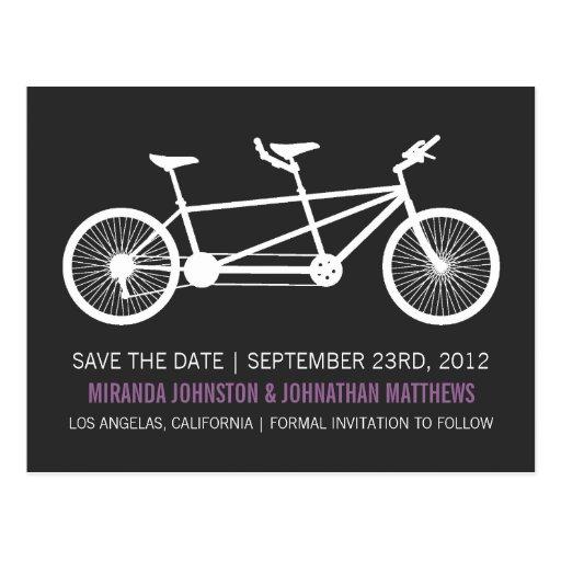 Reserva púrpura del texto de la bicicleta las post postales