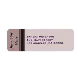 reserva rayada ciruelo del cardo la fecha etiquetas de remite