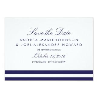 """Reserva rayada marina de guerra del boda la fecha invitación 5"""" x 7"""""""