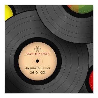 """Reserva retra de los discos de vinilo la invitación 5.25"""" x 5.25"""""""