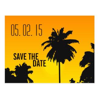 Reserva retra del boda de playa las fechas postal