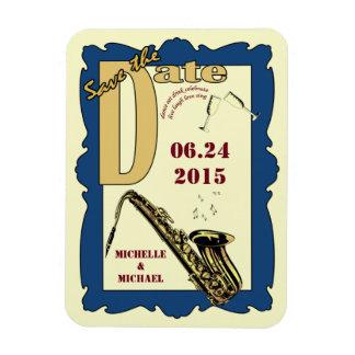 Reserva retra del jazz del estilo la fecha imán flexible
