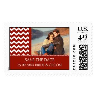 Reserva roja de Chevron los sellos del boda del in