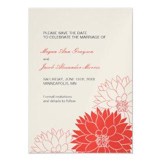 Reserva roja de la dalia la invitación del boda de