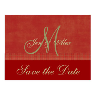 Reserva roja del boda de diciembre las tarjetas de postal