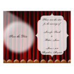 Reserva roja del boda de la etapa de la cortina de comunicado