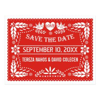 Reserva roja del boda de los pájaros del amor del tarjeta postal
