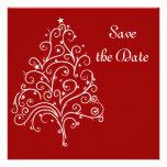 Reserva roja del boda del invierno la invitación d