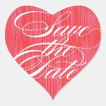 Reserva roja del corazón el | el sello del sobre d calcomania corazon