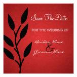 Reserva roja del fondo del vintage que la fecha in invitacion personal