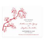Reserva roja del personalizado de los flores del m tarjetas postales