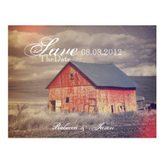 reserva roja occidental rústica del país del barnh tarjeta postal