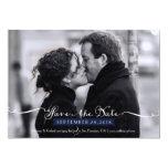 Reserva romántica de la foto de la escritura del invitación 12,7 x 17,8 cm