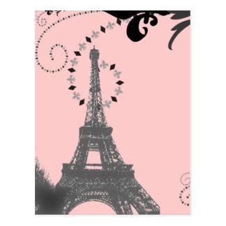 Reserva romántica del boda del vintage de París la Postal
