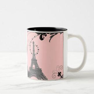 Reserva romántica del boda del vintage de París la Tazas De Café