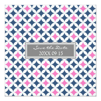 Reserva rosada azul gris del boda la tarjeta de invitación 13,3 cm x 13,3cm