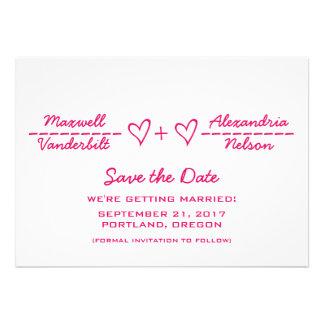 Reserva rosada de la ecuación del corazón que la f comunicado