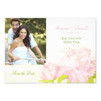 Reserva rosada de la foto del boda del Peony del Anuncios