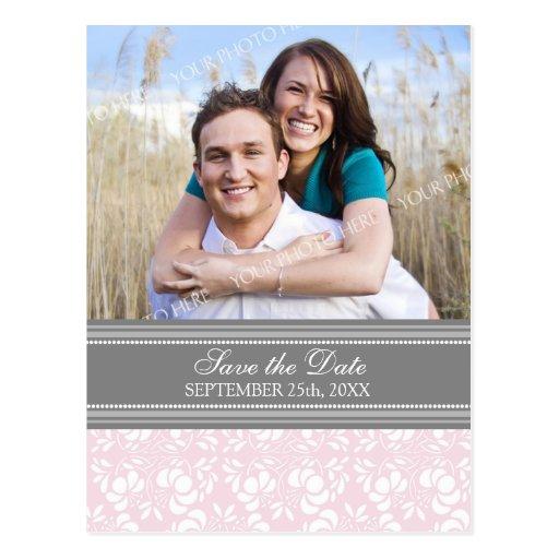 Reserva rosada de la foto las postales del boda de
