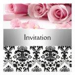 Reserva rosada de la invitación del fiesta de los