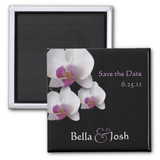 Reserva rosada de la orquídea el imán de la fecha