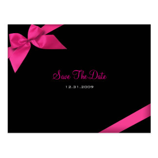 Reserva rosada del boda de la cinta la invitación  tarjeta postal