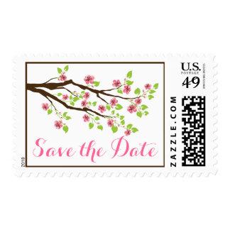 Reserva rosada del boda de la primavera de las sello