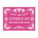 Reserva rosada del boda de los lovebirds del postal