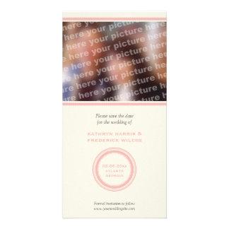 Reserva rosada del boda del círculo la invitación  tarjeta personal