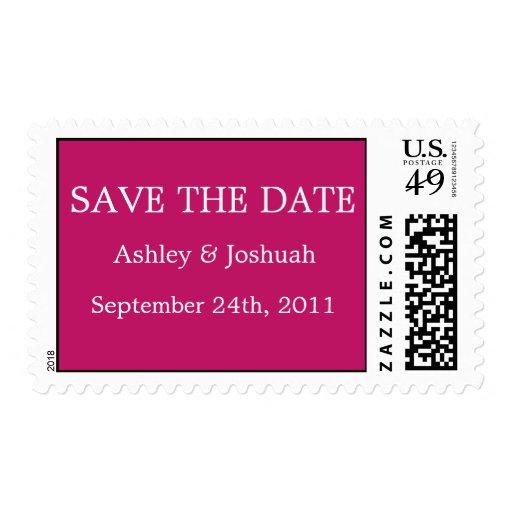 Reserva rosada del boda los sellos de fecha