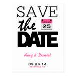 Reserva rosada del calendario el | de la diversión tarjeta postal