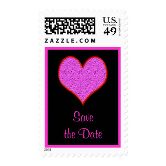 reserva rosada del corazón la fecha sello