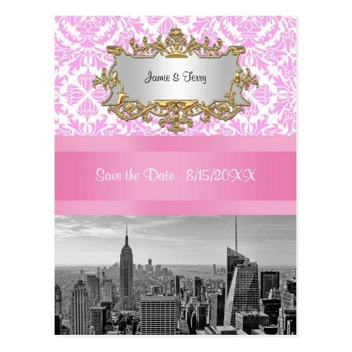 Reserva rosada del damasco de BW D4P del horizonte Tarjeta Postal