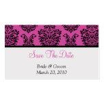 Reserva rosada del damasco la fecha tarjeta de negocio