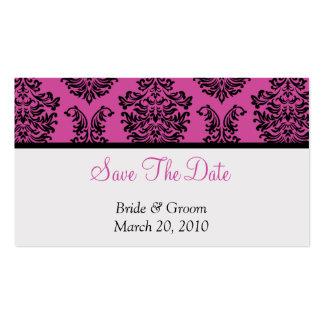 Reserva rosada del damasco la fecha tarjetas de visita