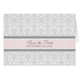 Reserva rosada del damasco la tarjeta de la invita