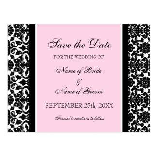 Reserva rosada del damasco las postales del boda d