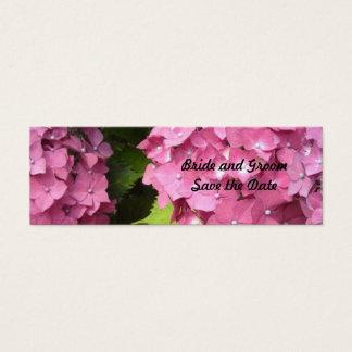 Reserva rosada del Hydrangea la fecha Tarjeta De Visita Pequeña