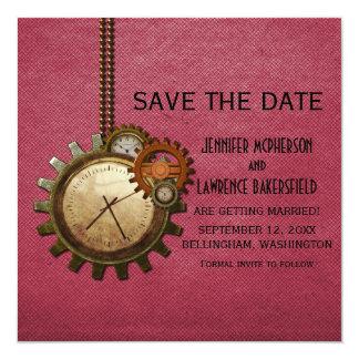Reserva rosada del reloj del vintage que la fecha anuncios personalizados