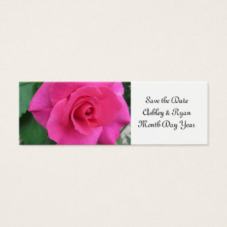 Reserva rosada del rosa la fecha tarjeta de visita pequeña