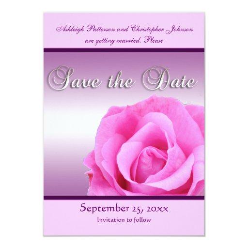 Reserva rosada del rosa la invitación de la fecha