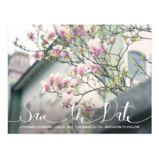 Reserva rosada elegante de la magnolia la postal d