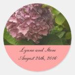 Reserva rosada elegante del Hydrangea la fecha Pegatinas