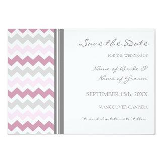 Reserva rosada gris del boda de la foto la tarjeta invitación 12,7 x 17,8 cm