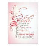 reserva rosada hermosa de la tipografía las invitación personalizada