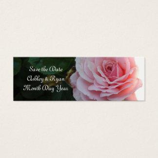 Reserva rosada magnífica del rosa la fecha tarjeta de visita pequeña