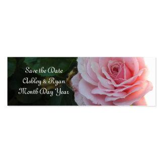 Reserva rosada magnífica del rosa la fecha tarjetas de visita mini