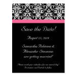 Reserva rosada negra del damasco de la pasión la t postal